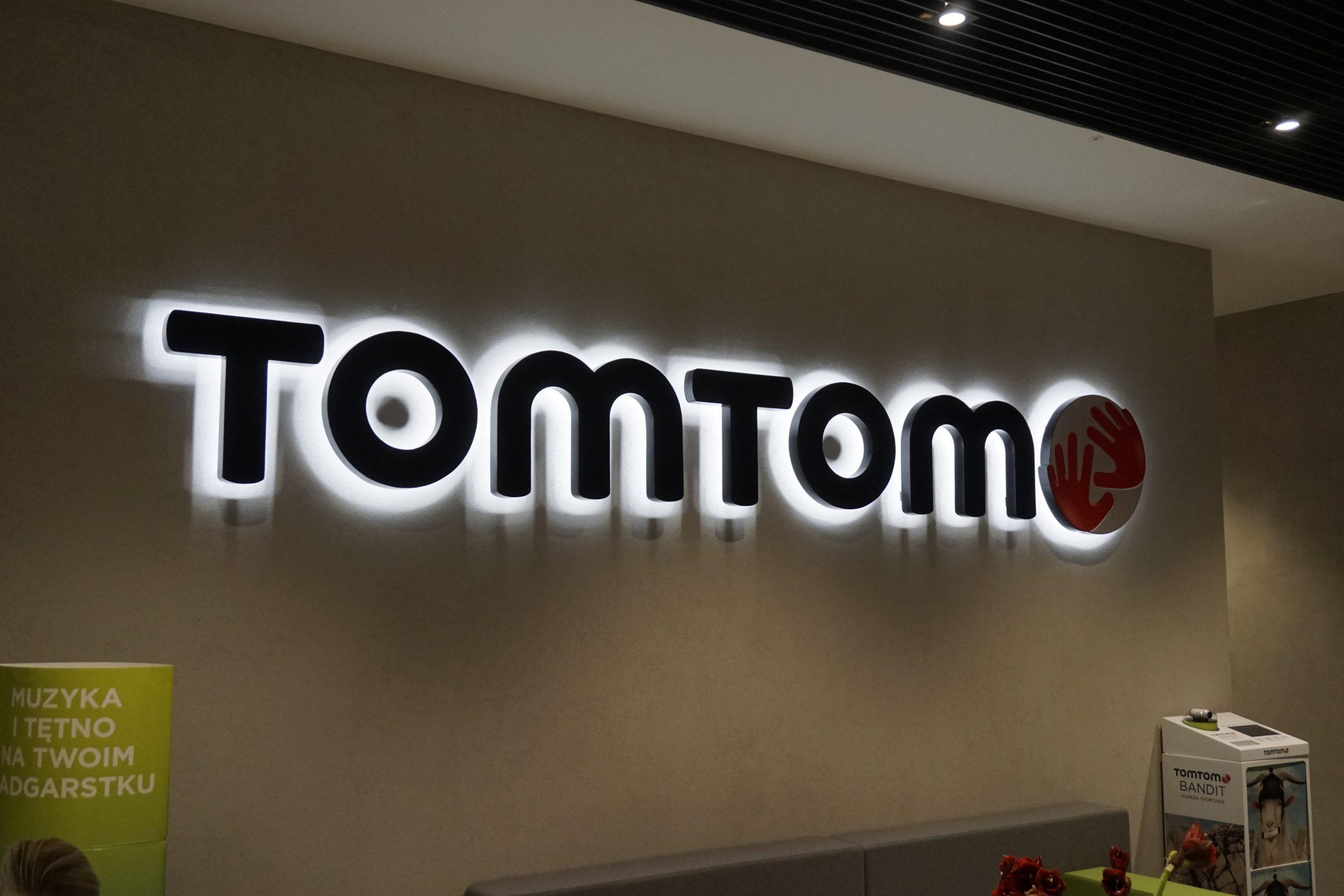 TOMTOM litery 3D